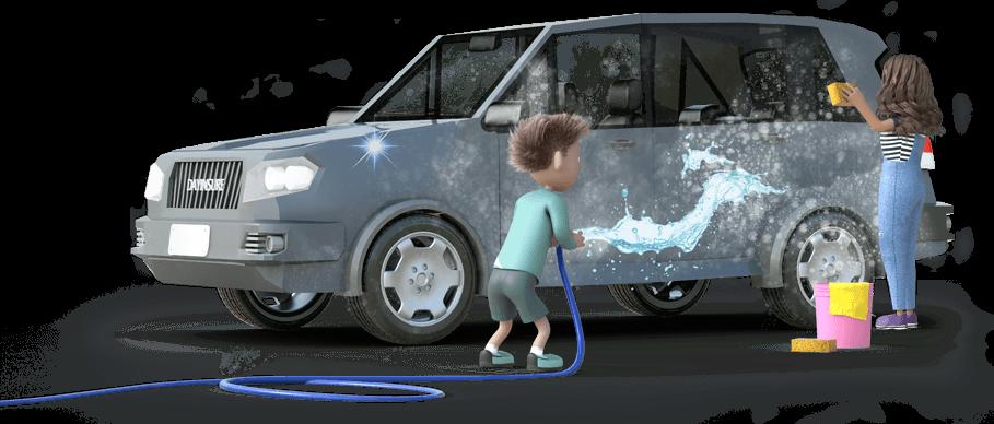 Dayinsure children washing car