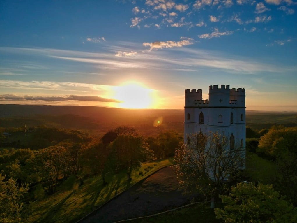 A castle at sunrise