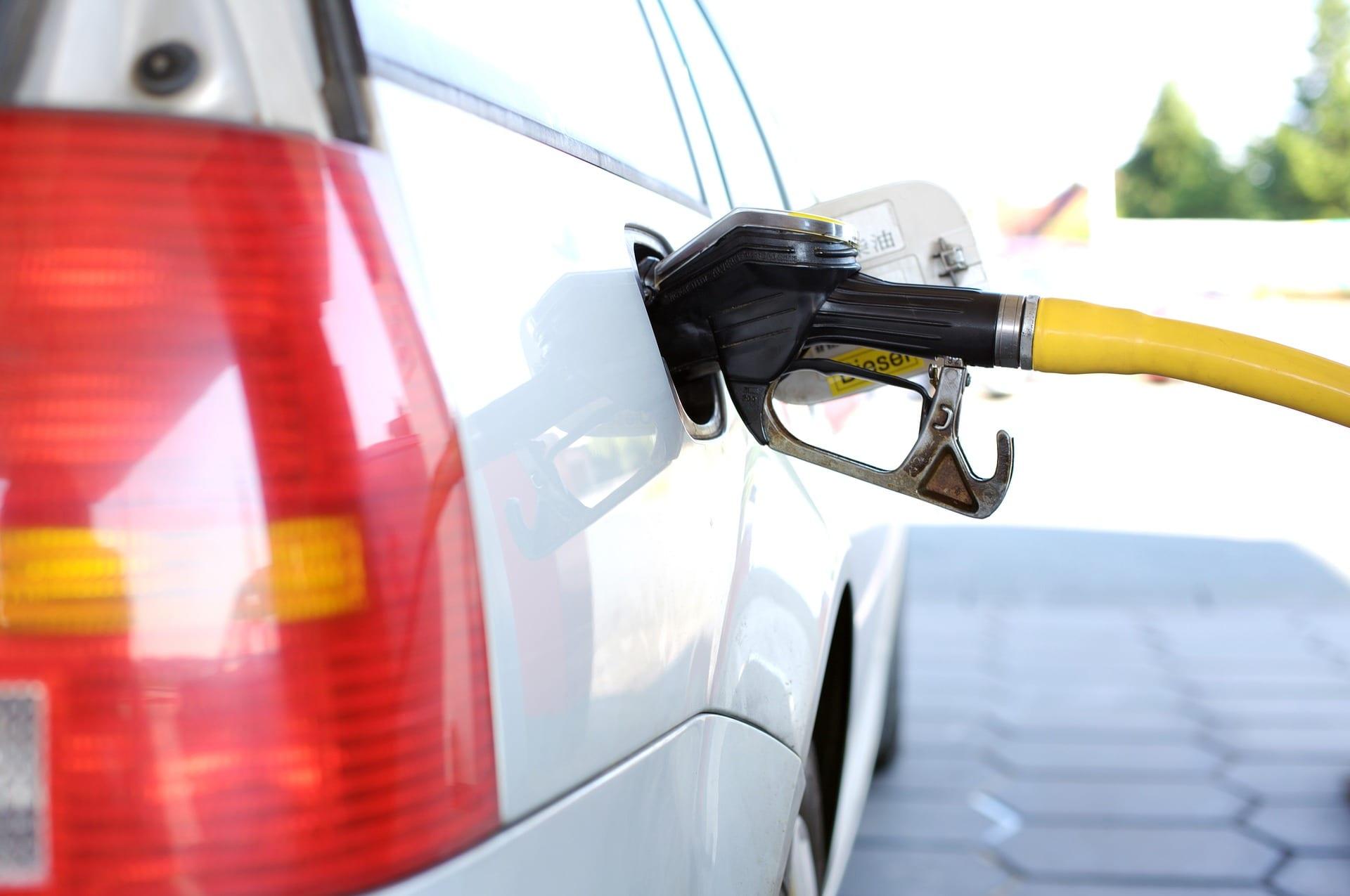 Petrol pump in car