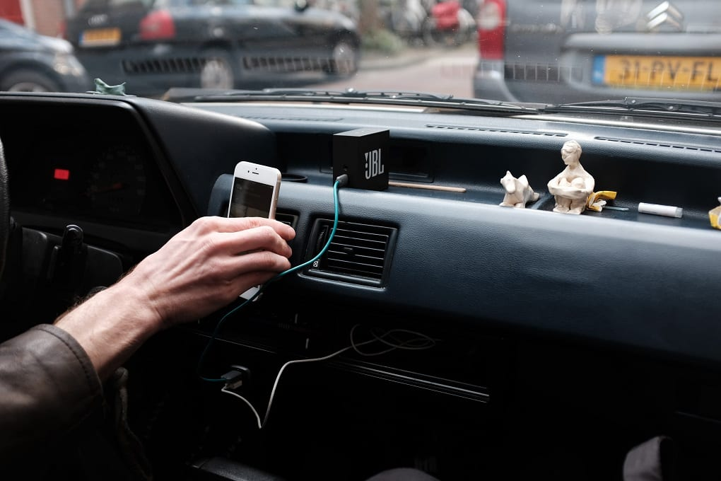 An in-car phone charger