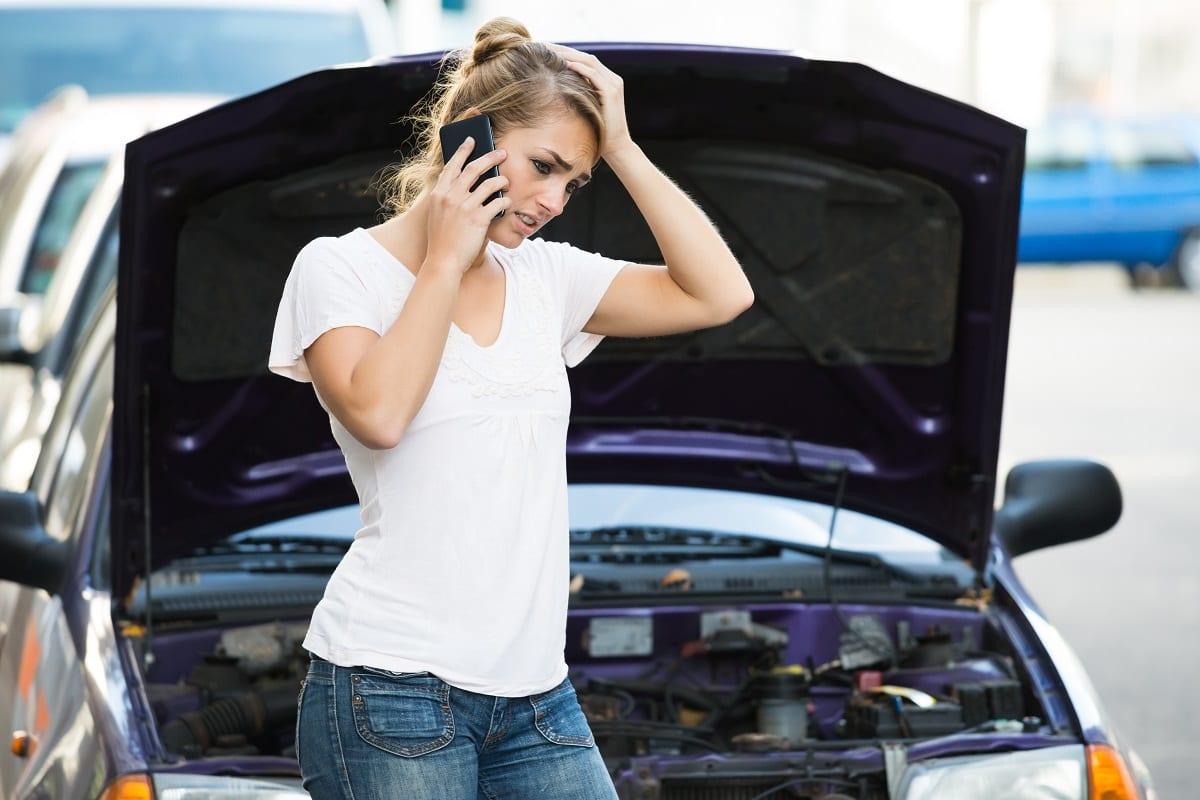 Woman's car broken down