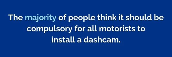 The majority of people think it should be compulsory for all motorists to install a dashcam | Dayinsure