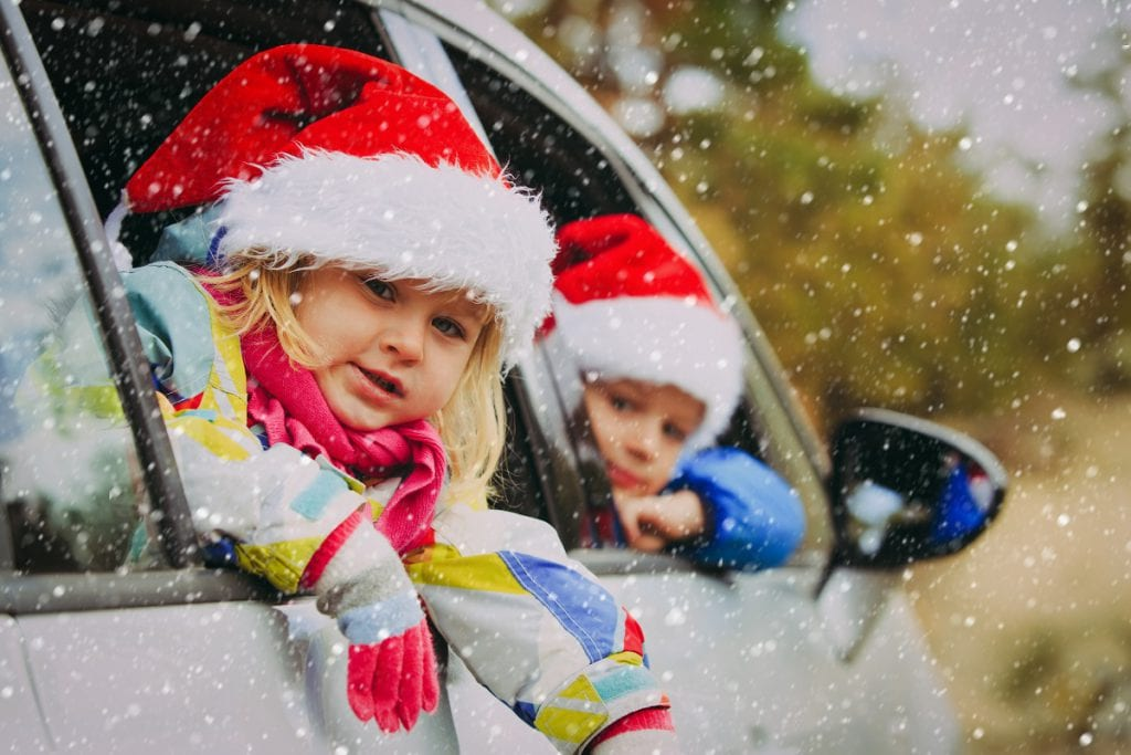 Family car at Christmas