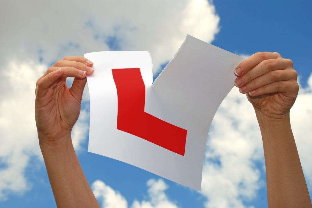 Tearing up L Plate