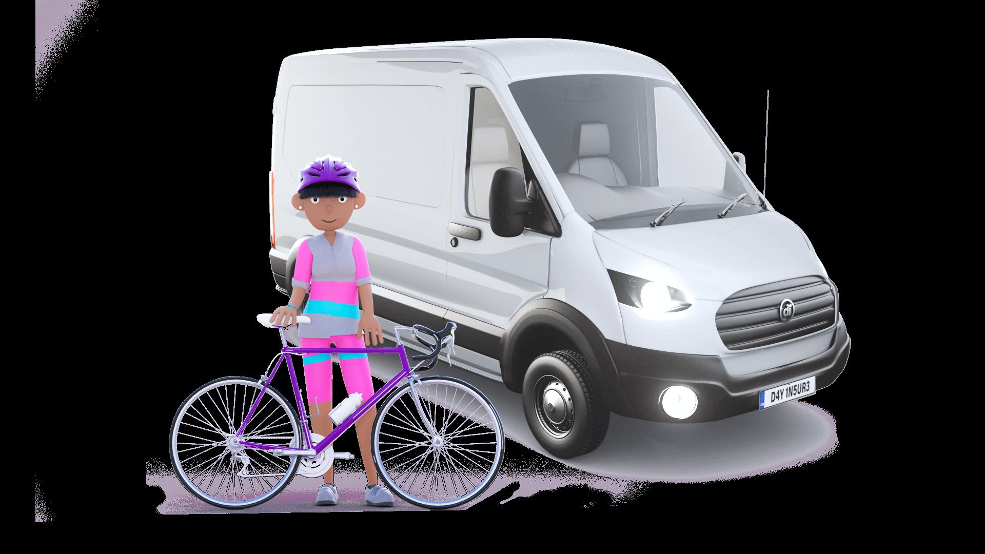 Dayinsure mum and White Van