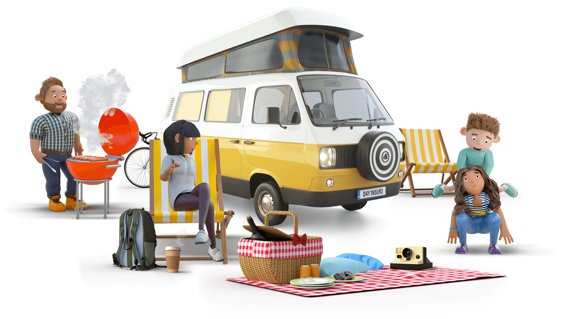 Dayinsure Family with Motorhome