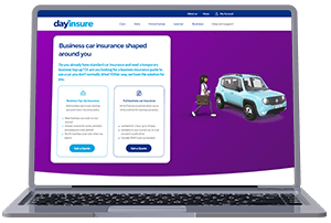 Business Car Insurance on Laptop