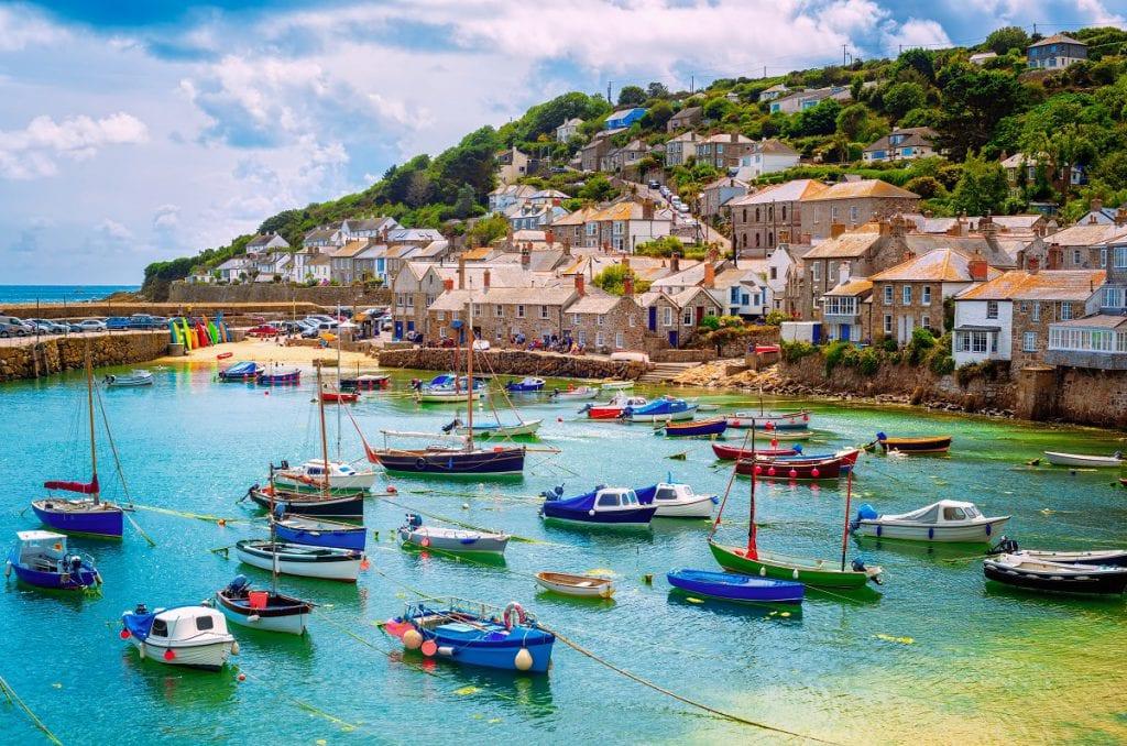 Cornwall coastal scenery